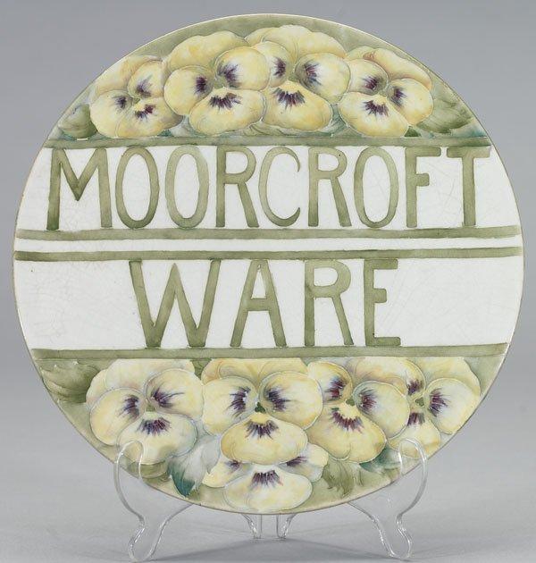 1046: Moorcroft Pansy Exhibition Plaque, c.1913