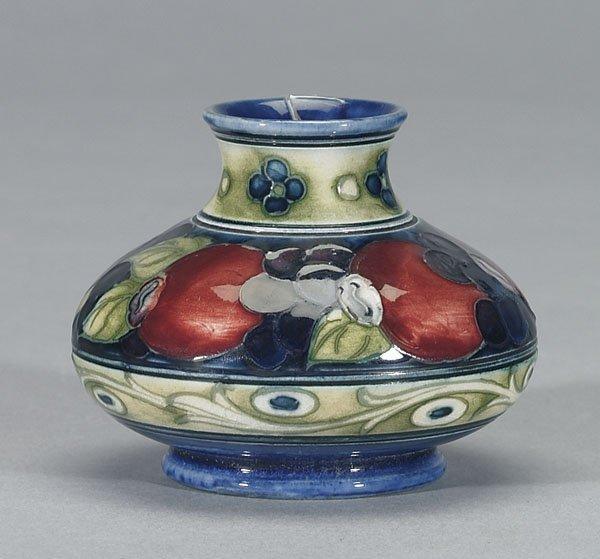 1110: Moorcroft Banded Pomegranate Vase, c.1925-30