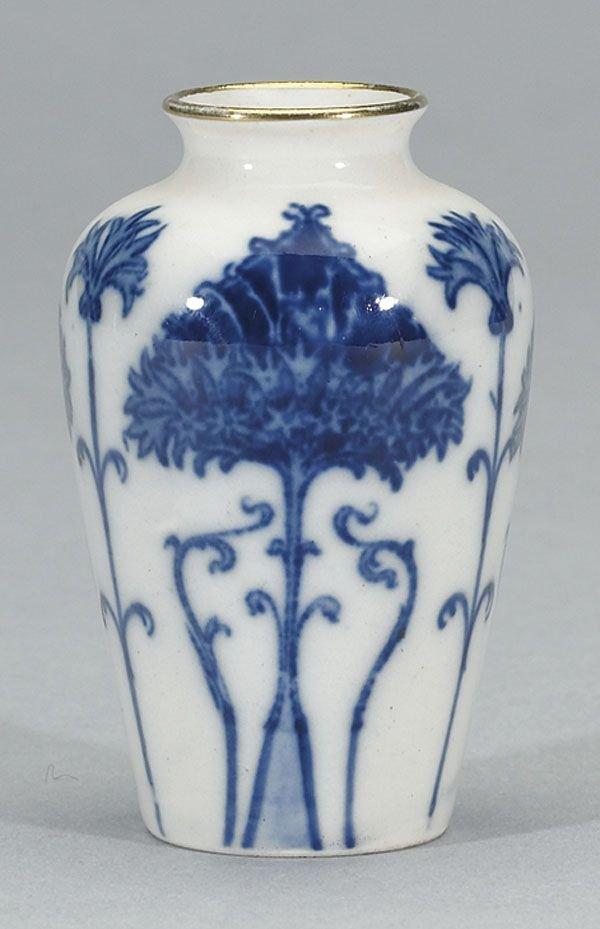 1006: Moorcroft Aurelian Miniature Vase, c.1898