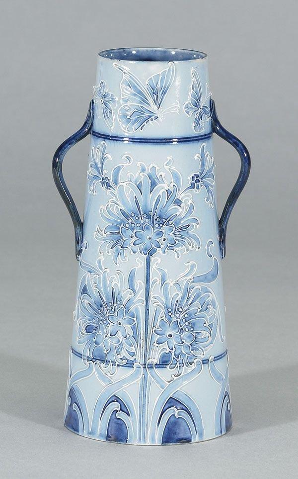 1007: Moorcroft Macintyre Florian Vase, c. 1898-1900