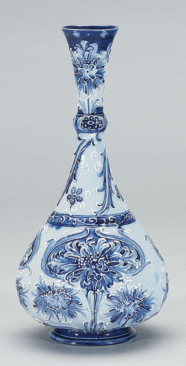 1009: Moorcroft Macintyre Florian Vase, c. 1900