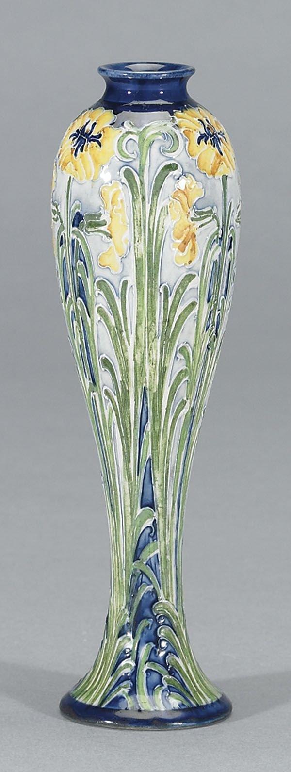 1010: Moorcroft Macintyre Florian Vase, c. 1900-02