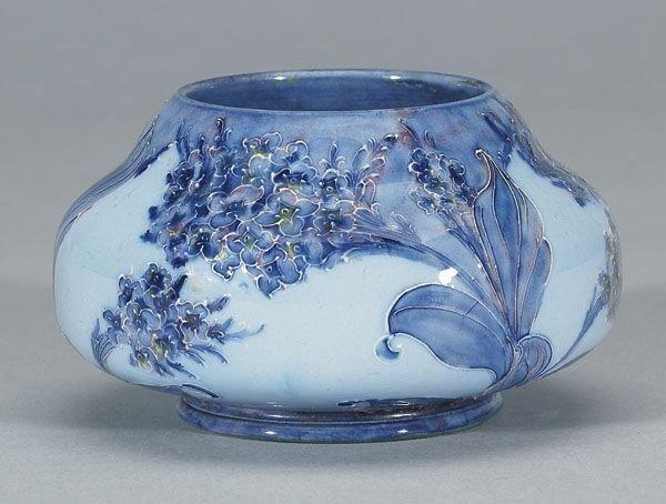 1011: Moorcroft Macintyre Florian Lilac Vase, c. 1902