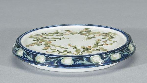 1012: Moorcroft Macintyre Seaweed Trivet, c. 1902