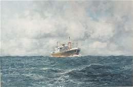145 Dutch HIP IN DEEP SEAS Oil on canvas 24 x 36