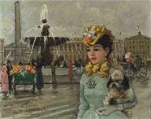 197 French E A PARIS Oil on canvas 16 x 20  406
