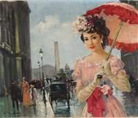 198 French E A PARIS Oil on canvas 20 x 24  508