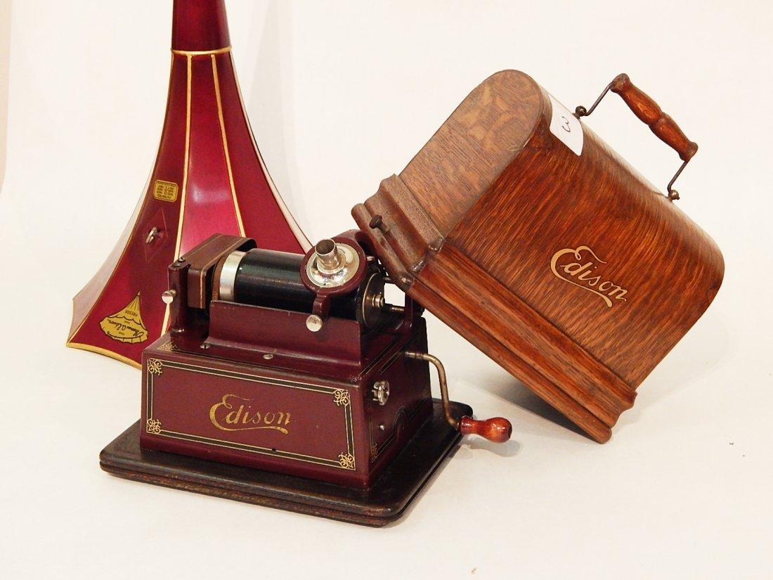 Edison Gem Model D C.1908 Phonograph W/ Box 25 Cylinder Part 86
