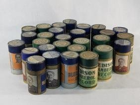 Lot (28) Edison Ambrol Cylinder Records