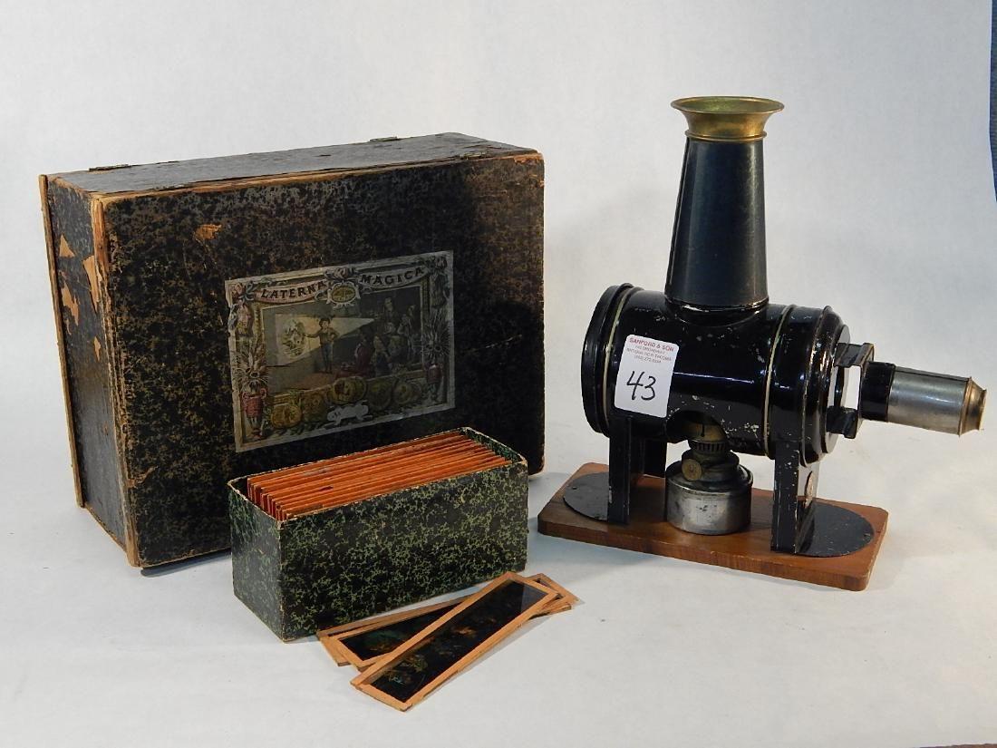 Antique German E.P. Magic Lantern Projector