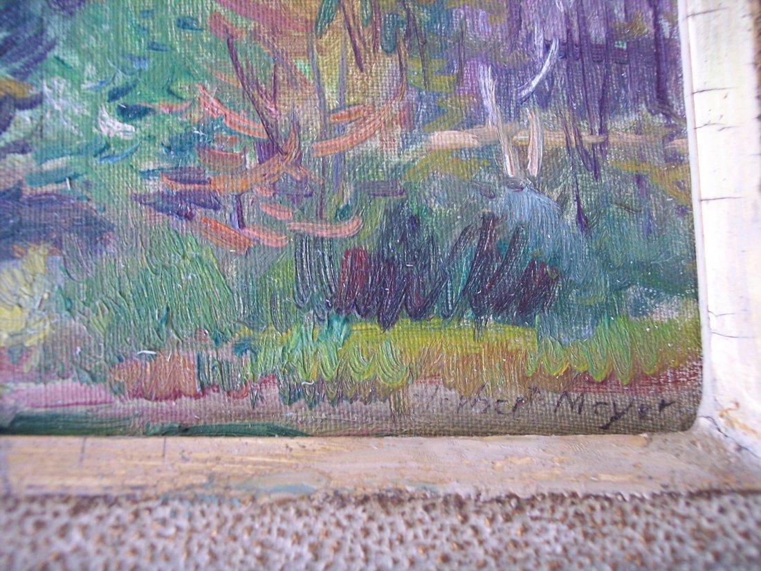 LISTED ARTIST HERBERT MEYER LANDSCAPE OIL PAINTING - 2