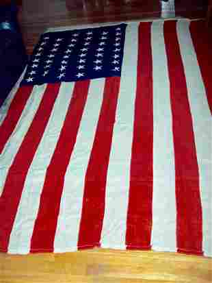 HUGE 46 STAR AMERICAN FLAG FROM J.GLENN DYER COLLECTION