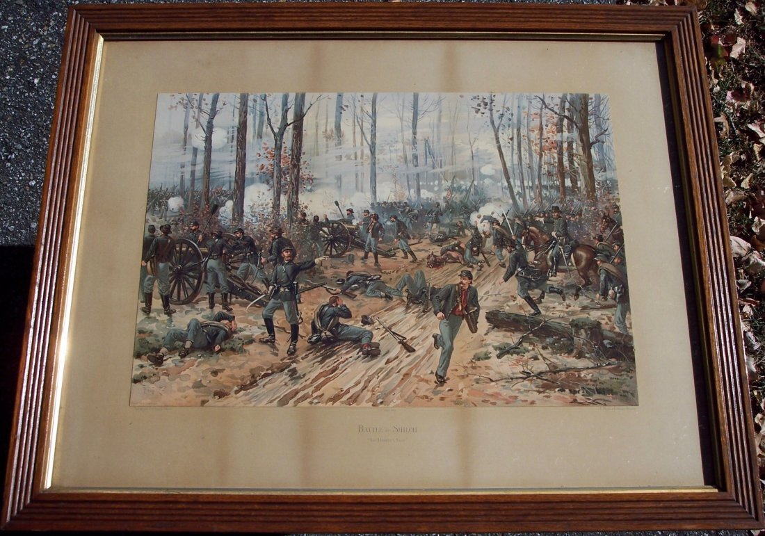 19THC LOUIS PRANG BATTLE OF SHILOH CHROMOLITHOGRAPH