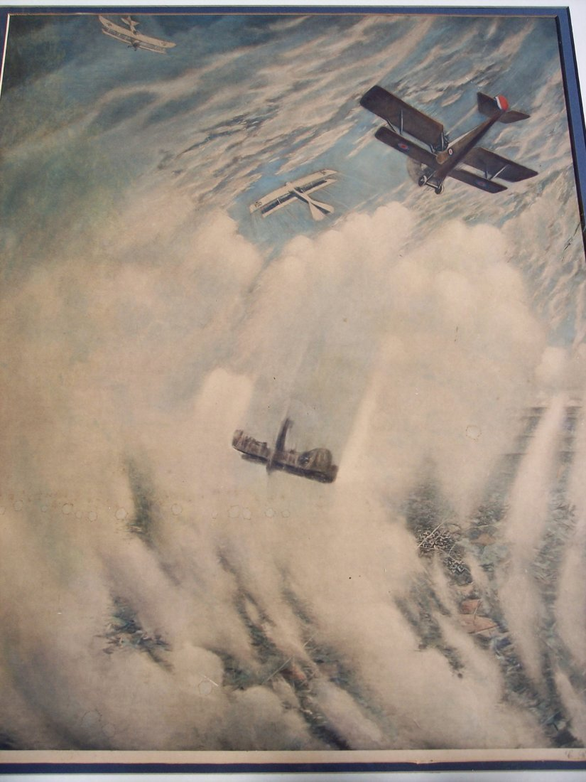 "FINE VINTAGE LITHOGRAPH OF ""WAR IN THE AIR"" - 2"