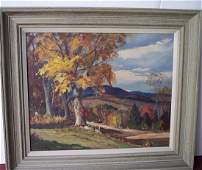 SIGNED OTIS COOK LANDSCAPE OIL ON CANVAS