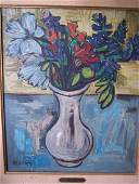 "ISIS KISCHKA ""BOUQUET"" OIL ON CANVAS"