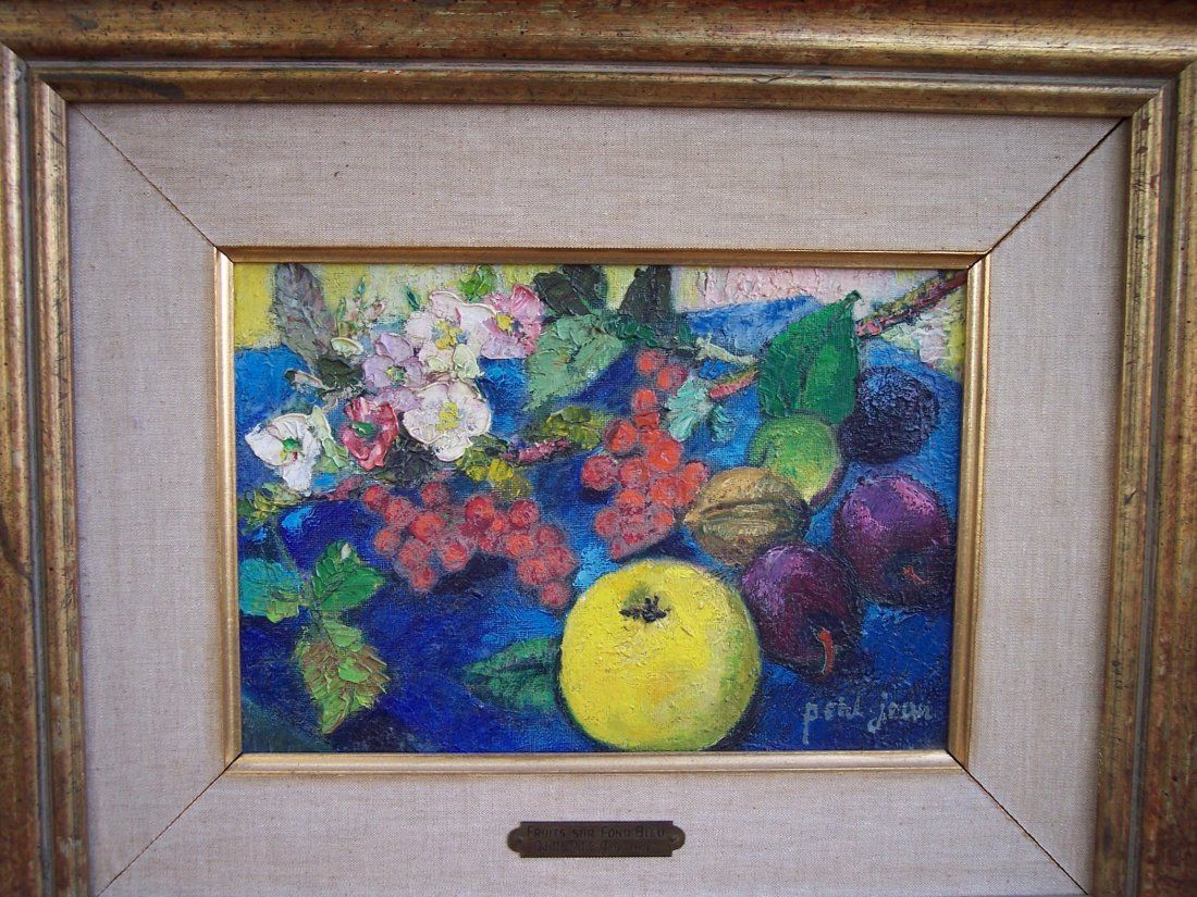 SIGNED ODETTE PETIT JEAN OIL ON CANVAS