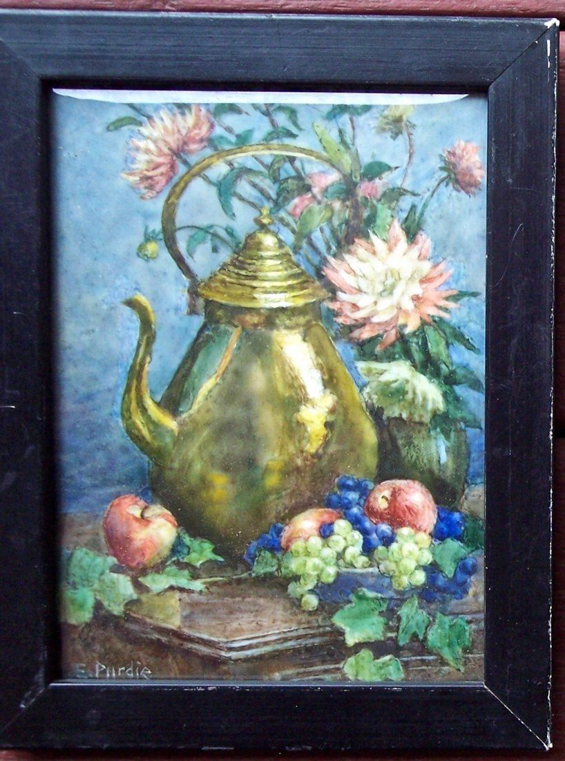 """SIGNED EVELYN PURDIE """"BRASS PITCHER"""" WATERCOLOR"""