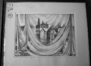 """PENCIL SIGNED VERA ANDRUS - TITLED """"SWINGING NETS"""""""