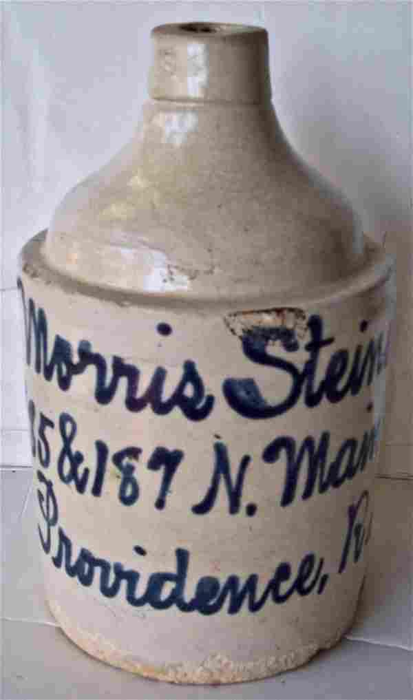 19 C -MORRIS STEINER PROVIDENCE, RI -STONEWARE JUG