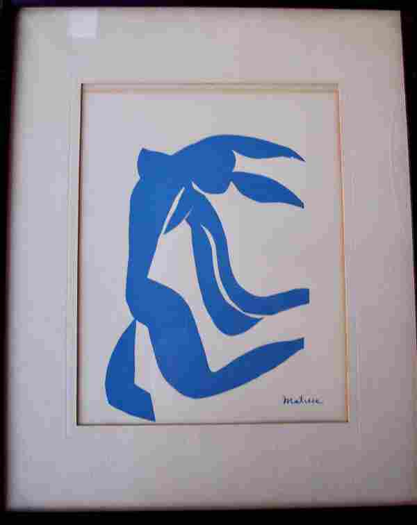 VINTAGE HENRI MATISE STONE LITHOGRAPH ON CREAM PAPER