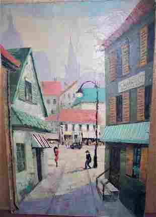 VINTAGE FRENCH OIL ON CANVAS SIGNED VRIONIS