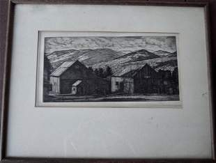 PENCIL SIGNED L. LUCIONI 1946 ETCHING