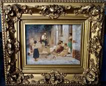 SIGNED EUGENE DE BLAAS OIL ON CANVAS
