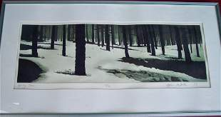 """PENCIL SIGNED STEPHEN MACMILLAN """"SPRING THAW"""""""