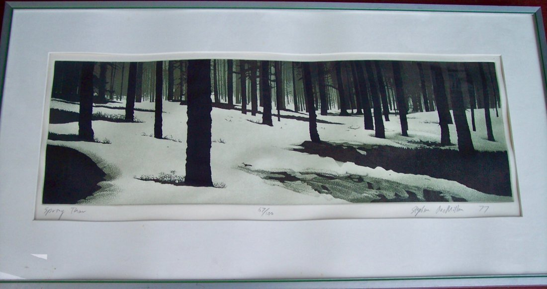 "PENCIL SIGNED STEPHEN MACMILLAN ""SPRING THAW"""