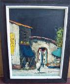 SIGNED CAMIALO OIL ON CANVAS