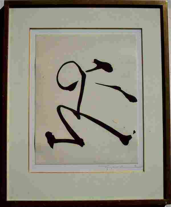 SIGNED IN PENCIL BY THE ARTIST CALLIGRAPHY IMAGE