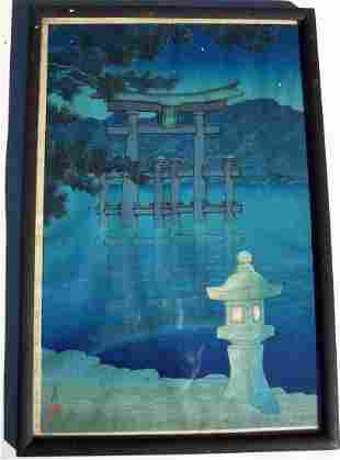 HAYASHI, SEICHI WOODBLOCK IN COLORS WITH ARTIST SEAL