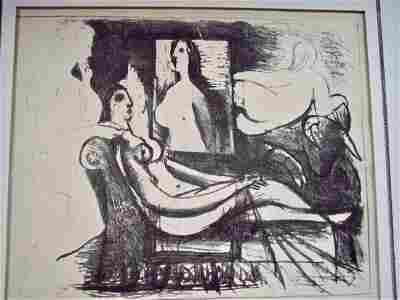 PICASSO LITHOGRAPH 1930 LE PEINTRE ET SON MODELE