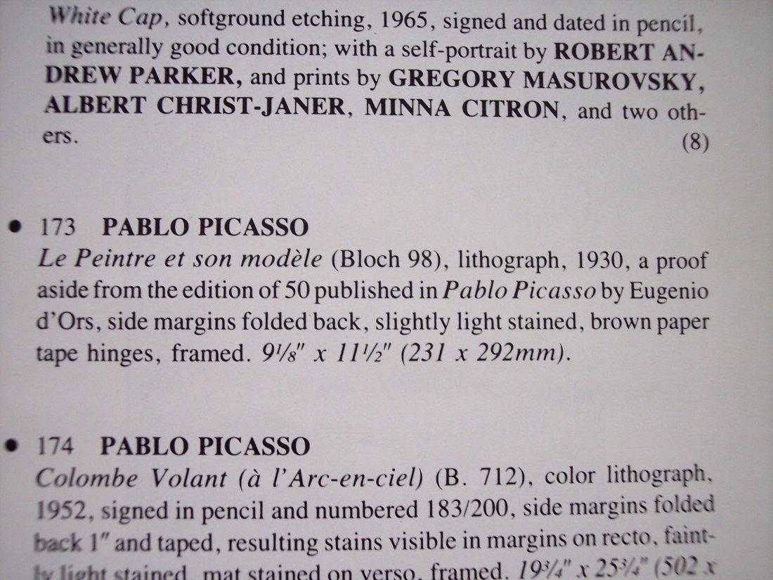 PICASSO LITHOGRAPH 1930 LE PEINTRE ET SON MODELE - 3