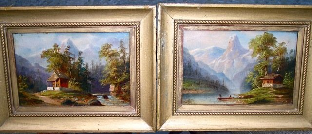 A PAIR OF LISTED ARTIST CHARLES BOIZARD 1851? PAINTINGS
