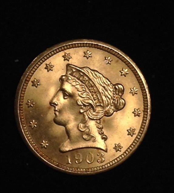 Magnificent 1903 Liberty Quarter Eagle Gold Coin