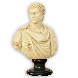 MARBLE BUST, Tiberius, late 19th Century.