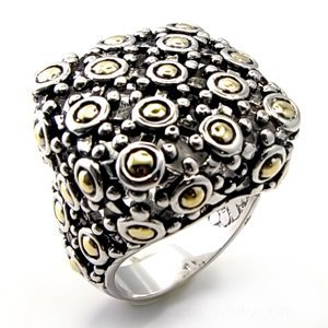 Two-Tone Contemporary Fashion Ring