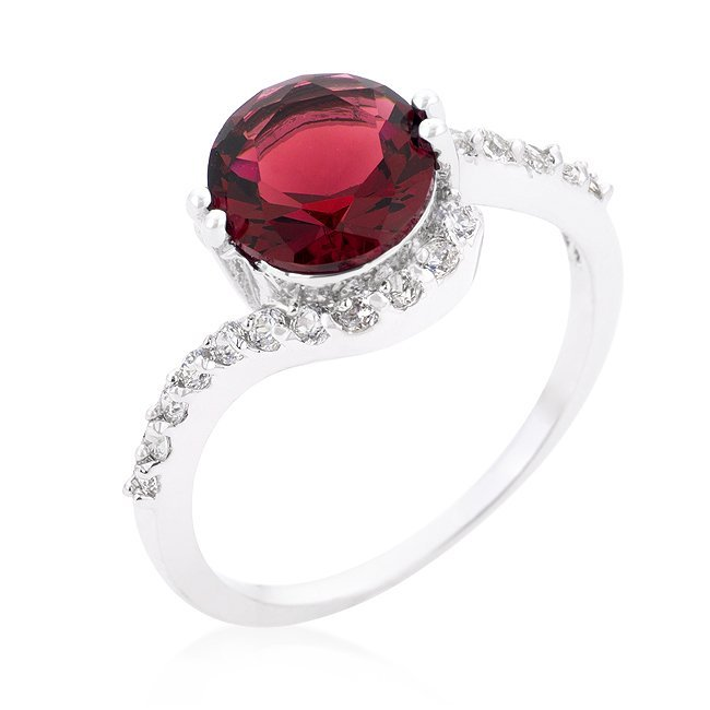 Classic Ruby Solitaire Ring