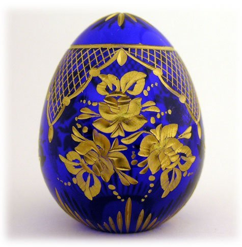 Imperial Crystal Russian Romanov Floral Egg