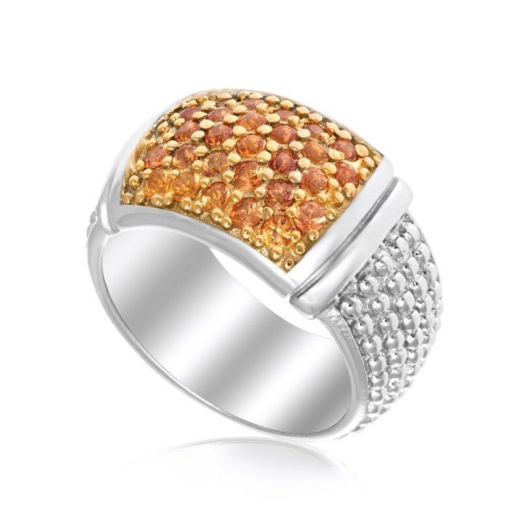 Yellow Sapphire Popcorn Style Design Ring