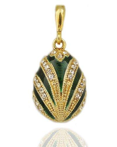 Russian Faberge Inspired Swarovski Crystal Pendant