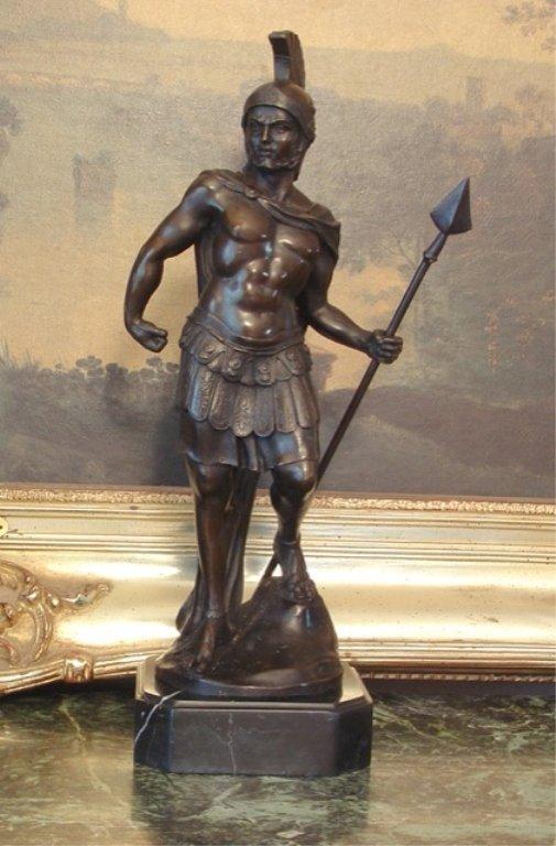 Greek Warrior Bronze Sculpture