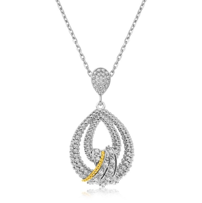 Contemporary Diamond Teardrop Pendant