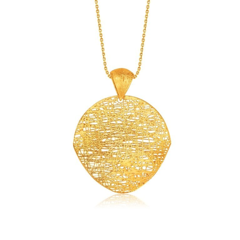 Designer 14K Gold Woven Style Pendant