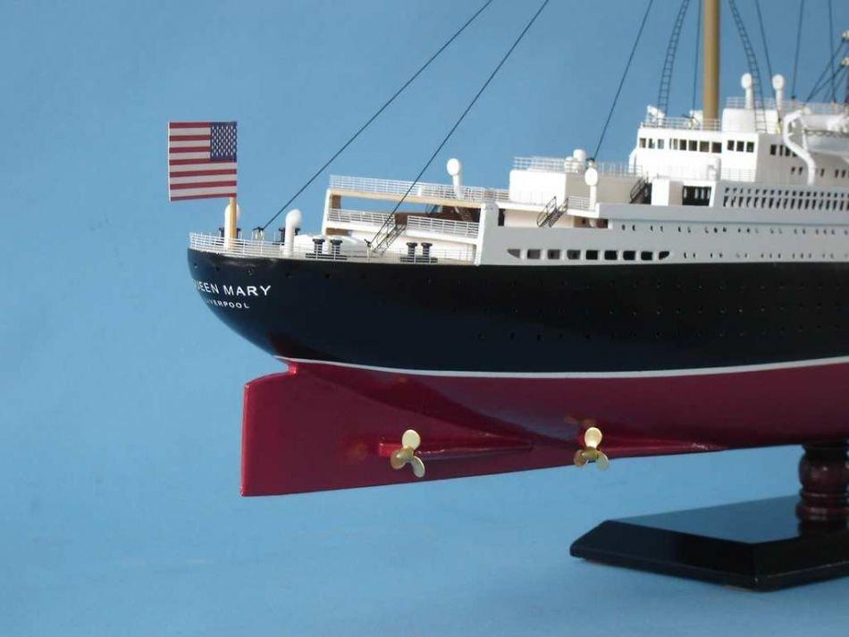 Queen Mary Model Ship - 7