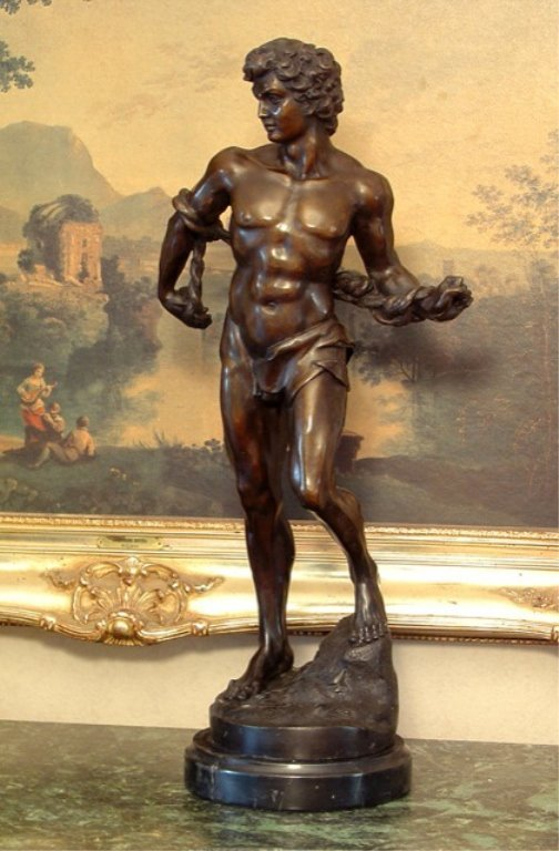 Adonis Greek God of Beauty Bronze Sculpture