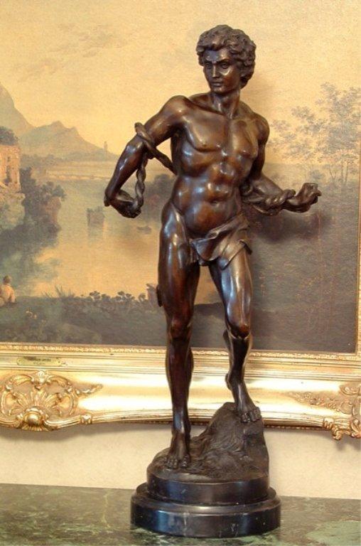 Adonis Greek God of Beauty Bronze Sculpture - 2