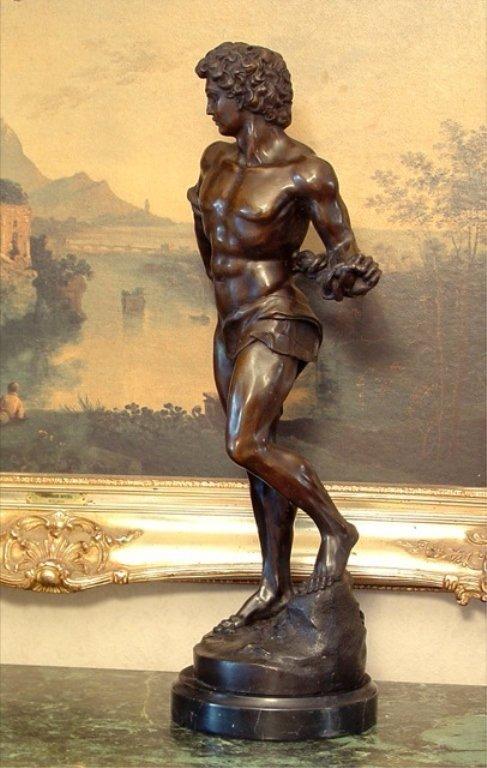 Adonis Greek God of Beauty Bronze Sculpture - 3
